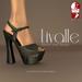 {Livalle} Elation -Platform Heels- Noir