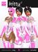 Kitty 2 - Pink & White Patterned Hooded Full Body Suit - Hugo's Design