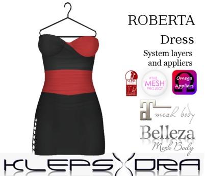 Klepsydra - Roberta Dress - (Appliers) - Red