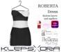Klepsydra - Roberta Dress - (Appliers) - White