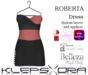Klepsydra - Roberta Dress - (Appliers) - Marsala