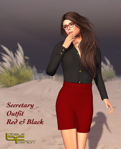 Babele Fashion :: Secretary Outfit Red and Black