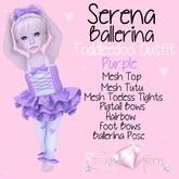 Candii Kitten - Serena Ballerina in Purple TD Baby and Kid