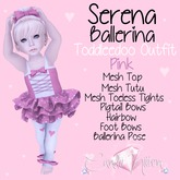 Candii Kitten - Serena Ballerina in Pink TD Baby and Kid