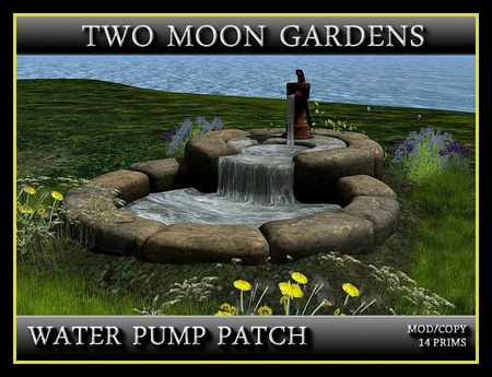 WATER PUMP PATCH* with flowers, water sounds and butterflies