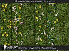Heart Terrain Textures - Summer Flowers and Grass