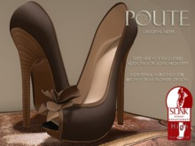 Poute- Oasis High Heels- Brown