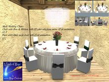 mesh Wedding Chairs color change bow (crated)