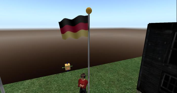 Germany Flag Full Staff animated blowing in wind