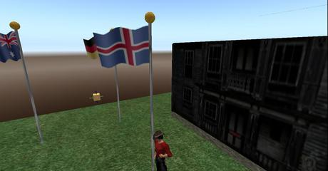 Iceland Flag Full Staff animated blowing in wind