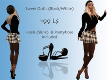 Sweet Outfit - Black-White