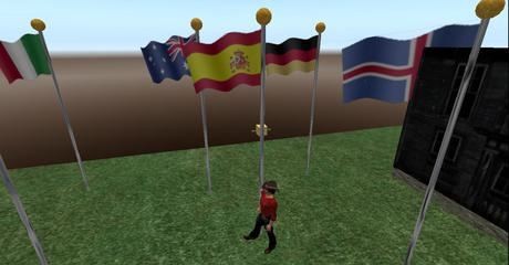 Spain Flag Full Staff animated blowing in wind