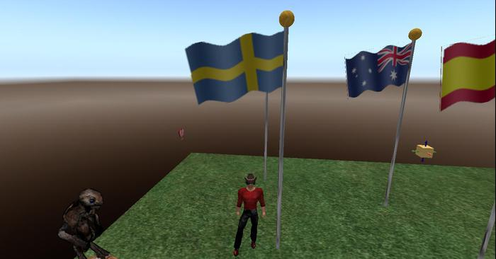 Sweden Flag Full Staff animated blowing in wind