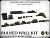 Garden Accessories - Ruined Stone Wall Kit