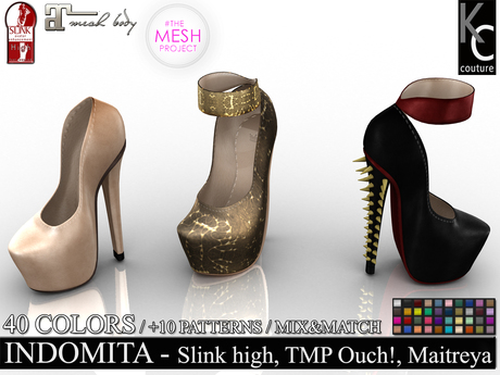 .:KC:. INDOMITA HEELS - SLINK HIGH,MAITREYA & TMP OUCH! / FATPACK