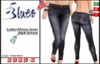 [BLUES] Ladies Skinny Jeans - R&B Anfield Splatter - (mesh)