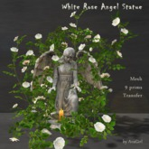 AvaGirl - White Rose Angel Statue