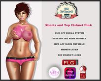 :: FLG Shorts and Top Fishnet Pink-TMP/OMEGA/SLINK PHYSIQUE ::