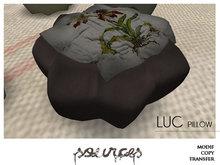 """""""LUC"""" Pouf Pillow BLACK by """"Sources""""  PG - MESH - BOX - Copy"""