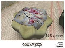 """LUC"" Pouf Pillow KAKI by ""Sources""  PG - MESH - BOX - Copy"