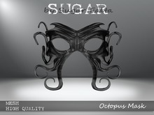SUGAR - Octopus Mask - BLACK