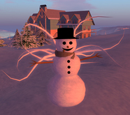 "Tentacle Snowman ""TENTACULUS FROSTISSIMUS"", sculpted and with waving flexi tentacles MERRY CHRISTMAS"