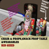 Childrens Home Movie Theater (Extra Chair/Table Package, KID)