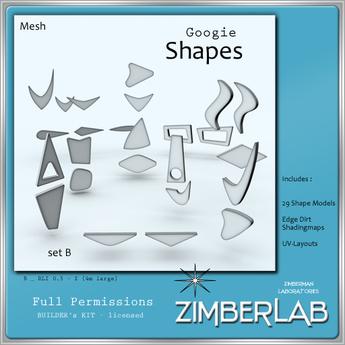 Mesh Shapes full perm - ZimberLab Builder's Kit B