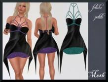 .::f  tiche petite::. Mesh Braty Dress/green Glitter