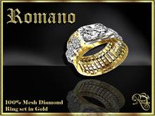 RJ Romano Ring Diamond - Gold (Boxed)