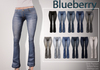Blueberry flare jeans2