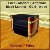 Modern Armchair - Wood/gold- light