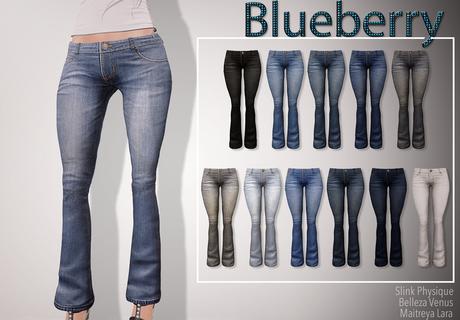 Blueberry Serala - Maitreya / Belleza / Slink - Fat Pack