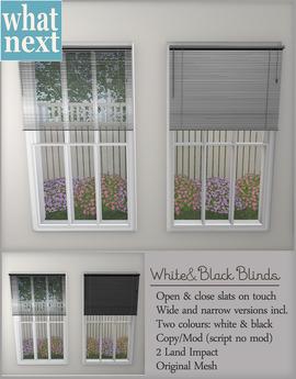 {what next} Blinds - Black & White
