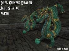Dual Chinese Dragon Statue [Jade Serie]