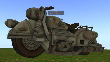 Motorcycle urban mesh non script