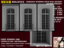 Gorgeous high detailed window with wall section Li = 4.0 M0774 M0779