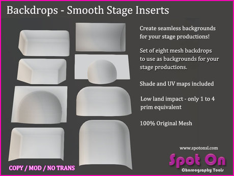 Spot On Backdrop - Smooth Stage Inserts