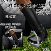 .:Don't Fret:. Stirrup Add-ons - Black