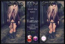 PMS -The Smartest Thing leg Tattoo
