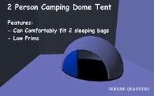[Serene Quarters] 2 person Dome Tent -White