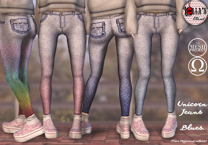 :LoLla's: Closet Unicorn Jeans {Blues}