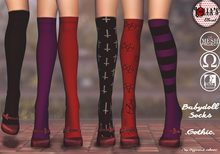 :LoLla's: Closet Babydoll Socks {Gothic}