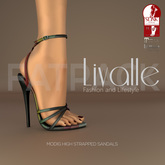 {Livalle} Modig -High Strapped Sandals- FATPACK