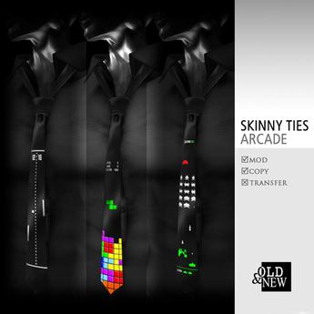 (O&N) Skinny Ties / Neckties (Arcade)
