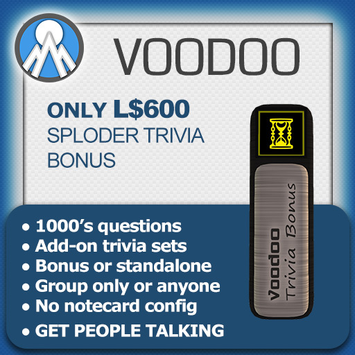 Voodoo Trivia Machine - Standalone or Sploder Bonus