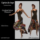 *CdT*  Cocktail  dress fleurs
