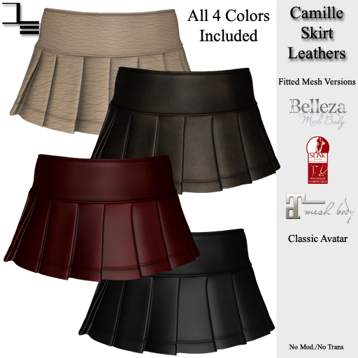 DE Designs - Camille Skirt - Leathers