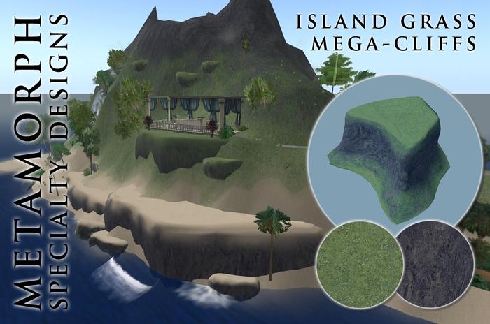 Metamorph Mega-Cliff - Island Grass 25x25