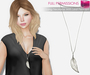 Full Perm Mesh Long Necklace With Leaf Pendant